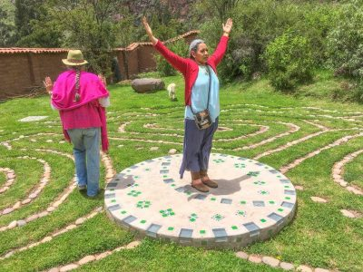 After their alignment, Manzana left the labyrinth. It was very touching....